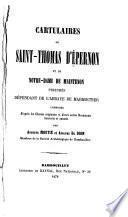 Cartulaires de Saint-Thomas d'Épernon et de Notre-Dame de Maintenon