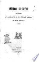 Catalogo alfabetico dei libri appartenenti al cav. Cesare Airoldi
