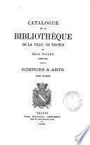 Catalogue de la bibliothèque de la ville de Troyes