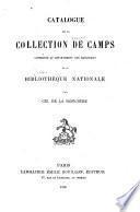 Catalogue de la collection de Camps conservée au département des manuscrits de la Bibliothèque nationale