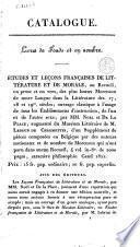 Catalogue de la librairie d'éducation de G. De Busscher et fils