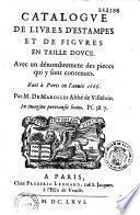 Catalogue de livres d'estampes et de figures en taille douce