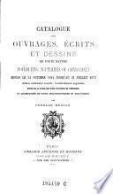 Catalogue des ouvrages, üecrits et dessins de toute nature poursuivis, supprimes ou condamnes depuis le 21. octobre 1814 jusqu'au 31. juillet 1877. Ed. nouv