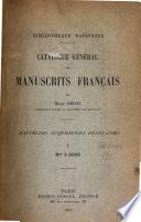 Catalogue général des manuscrits français