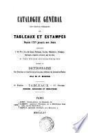 Catalogue général des ventes publiques de tableaux et estampes depuis 1737
