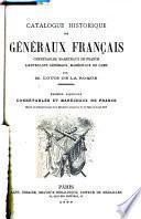 Catalogue historique des généraux français