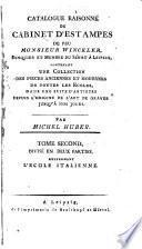 Catalogue raisonné du cabinet d'estampes par feu m. Winckler: L'école italienne
