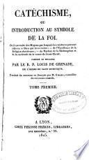 Catechisme, ou introduction au symbole de la foi