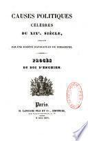 Causes politiques célèbres du XIXe siècle