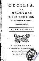 Cécilia ou Mémoires d'une héritière