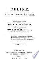 Céline, histoire d'une émigrée, rédigée d'apres les notes laissées par mme. Backker