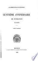 Centième anniversaire de fondation (1772-1872)
