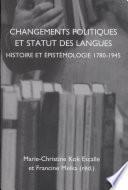 Changements politiques et statut des langues