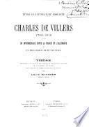 Charles de Villers, 1765-1815