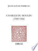 Charles Du Moulin (1500-1566)
