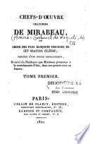 Chefs-d'oeuvre oratoires de Mirabeau, ou choix des plus éloquens discours de cet orateur célèbre
