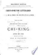 Chi-king ou livre des vers