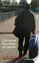Chronique d'un retour en Guinée