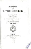 Chronique de Mathieu d'Escouchy