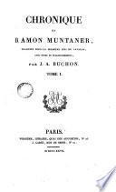 Chronique de Ramon Muntaner, 1