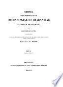 Chronique des ducs de Brabant