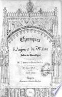 Chroniques d'Anjou et du Maine