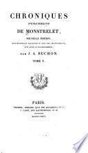 Chroniques d'Enguerrand de Monstrelet