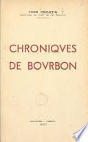 Chroniques de Bourbon