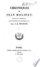 Chroniques de Jean Molinet