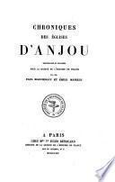 Chroniques des églises d'Anjou