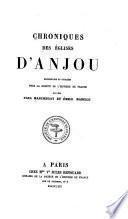 Chroniques des ḡlises d'Anjou