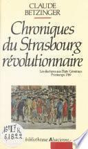 Chroniques du Strasbourg révolutionnaire : les élections aux états généraux, printemps 1789