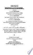 Chroniques fontenaisiennes ... publ. et annot. par A.D. de la Fontenelle de Vandore
