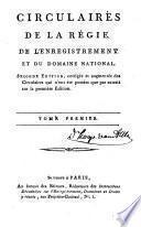 Circulaires de la régie de l'enrégistrement et du domaine national