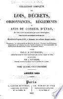 Collection complète des lois, décrets d'intérêe général, traités internationaux, arrêtés, circulaires, instructions, etc