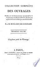 Collection complète des ouvrages: (1819. 264 p.)