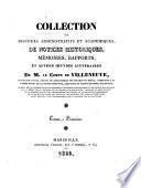Collection de discours administratifs et académiques, de notices historiques [&c.].