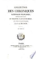 Collection des chroniques nationales françaises: Chroniques d'Enguerrand de Monstrelet