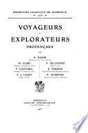 Collection des ouvrages publiés par la Commission des publications et notices: Barré, H. [and others] Voyageurs et explorateurs provençaux. 1905