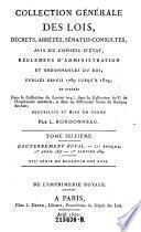 Collection Générale Des Lois, Décrets, Arrêtes, Sénatus-Consultes, Avis Du Conseil D'État Et Réglemens D'Administration
