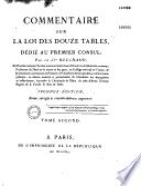 Commentaire sur la loi des douze tables