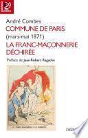 Commune de Paris - mars-mai 1871