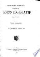 Compte rendu analytique des séances du corps législatif