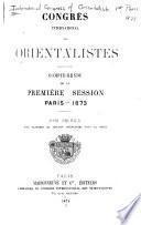 Compte-rendu de la première session. Paris - 1873--