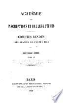 Comptes rendus des séances - Académie des inscriptions & belles-lettres