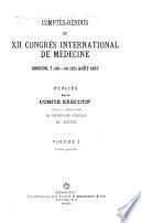 Comptes-rendus du XII Congrès international de médecine
