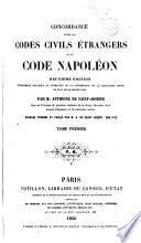 Concordance entre les codes civils étrangers et le Code Napoléon