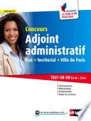 Concours Adjoint administratif (Etat, Territorial, Ville de Paris)