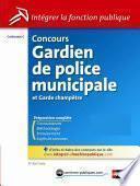 Concours Gardien de police municipale et garde champêtre - Catégorie C