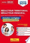 Concours Rédacteur territorial et rédacteur principal - Annales corrigées - Catégorie B